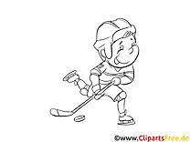 Sportarten für Kinder Malvorlage Winter-Sport