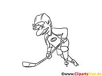 Zeichnungsvorlagen Eishockey, Wintersport