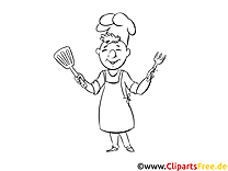Little cook - 4th of July coloring pages