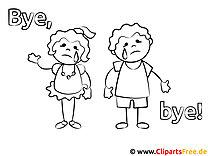 Mahlvorlage Kinder weinen