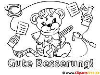 Tiger Gute Besserung Malvorlagen kostenlos für Jung und Alt