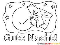 Schlafen Gute Nacht Ausmalbilder kostenlos