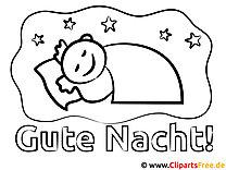 Schlafen Gute Nacht gratis Bilder zum Ausmalen