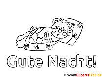 Schlafendes Schweinchen Gute Nacht Kinder Malvorlagen