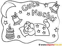 Tiere schlafen Mond Gute Nacht Kinder Malvorlagen