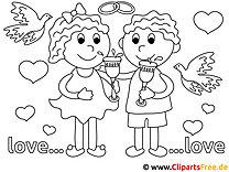 Verlobtes Paar Ausmalbilder