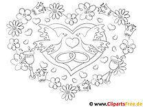 Verlobung Ringe Ausmalbilder für Kinder kostenlos ausdrucken