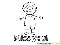 Traurig Vermisse dich Malvorlage