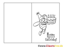 Geburtstagskarten Zum Ausmalen Kostenlos Zum Ausdrucken