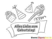 Geschenke Ausmalbild - Geburtstag Bilder kostenlos