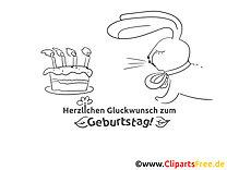 Kerzen Kuchen Geburtstag Ausmalbild