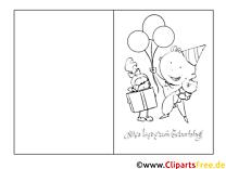 Kinder Vorlage Grusskarte zum Ausmalen und Drucken