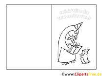 Klappkarte zum Geburtstag Pinguine