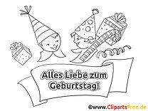 Party Ausmalbild - Geburtstag Bilder kostenlos