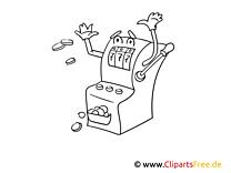 Caoon Spielutomat Casino Bild zum Ausmalen
