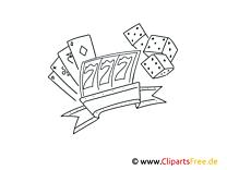 Casino Ausmalbilder