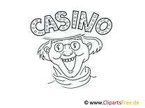 Casino Bild schwarz-weiß