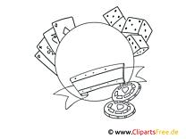 Schöne Ausmalbilder für Erwachsene Casino