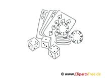 Spielen im Casino Bilder schwarz-weiß