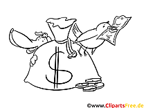 Dollar Bild - Ausmalbild zum Ausmalen