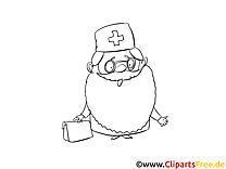Arzt mit Bart Malvorlage