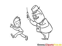 Arzt und Junge Malvorlage