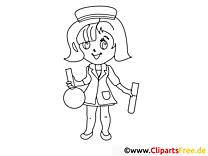 Arzt Untersuchung Ausmalbilder