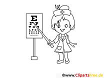 Augenarzt Ausmalbilder für Kinder