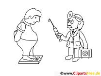 Behandlung Arzt Malvorlagen