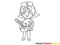 Beim Tierarzt Ausmalbilder