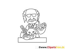 Katze beim Tierarzt Ausmalbilder