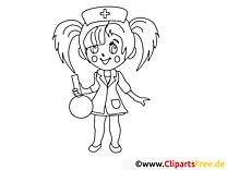 Krankenschwester Malvorlage gratis