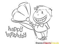 Boyama sayfası Happy Birthday