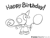 Colouring book online Happy Birthday
