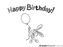 Colouring Sheet Happy Birthday