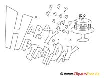 Kartka-Kolorowanka Happy Birthday