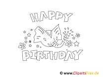 Kolorowanka do wydrukowania dla dzieci - Urodziny dla dzieci