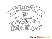 Kolorowanka Urodziny - Darmowe kolorowanki do wydruku