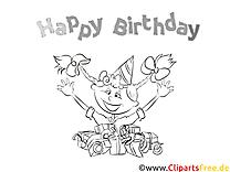 Kolorowanki urodzinowe do drukowania dla dzieci i dorosłych