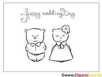 Bären Hochzeitskleid Malvorlagen-GlБckwБnsche zur Hochzeit