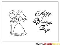 Brautpaar Blumenstrauß Malvorlagen-GlБckwБnsche zur Hochzeit
