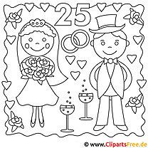 Ehepaar Bild zum Ausmalen