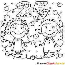 Hochzeit 25 Malvorlage zum Malen