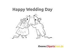 Mäuse zur Hochzeit Bild, Malvorlage kostenlos
