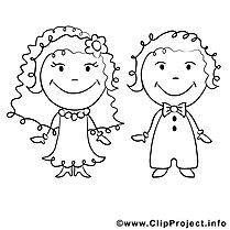 Malvorlage Hochzeit