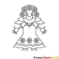 Prinzessin Malbuch mit Ausmalbildern