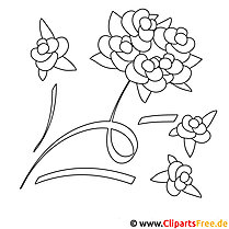 Rosen Malvorlagen gratis