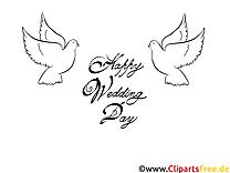 Tauben Vogel Malvorlagen-Glückwünsche zur Hochzeit