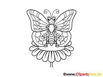 Kelebek boyama sayfası hayvanlar