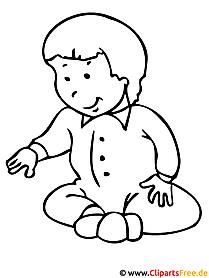 Baby Malvorlagen fuer Kinder kostenlos